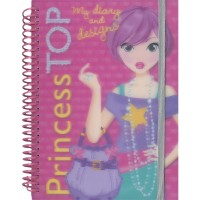 PRINCESS TOP MY DIARY AND DESIGN ROSA