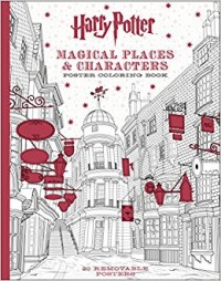 Harry Potter Magical Places And Creatures Poster Coloring Book
