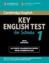 Key English Test For Schools 1 With Answers