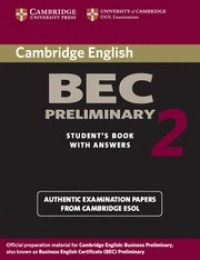 Practice Tests Bec Preliminary 2 Sb W/Key
