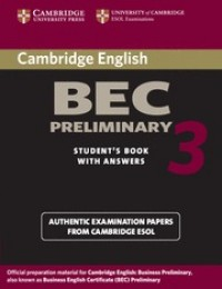 Practice Tests Bec Preliminary 3 Sb W/Key