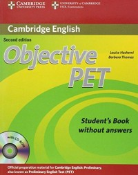 Objective Pet Second Edition Sb Wo Key With Cd