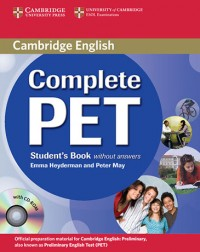 Cambridge Complete Pet Sb Wo-Key