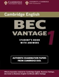 Practice Tests Bec Vantage 1 Sb W/Key