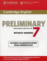 Cambridge English Pet 7 Book