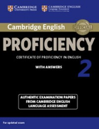 Cambridge Proficiency 2 With Answers+cd