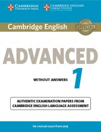 Cambridge English Advanced 1 Wo/Key