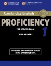 Cambridge Certificate Of Proficiency 1 Sb With Key