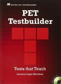 Pet Testbuider With Audio Cd