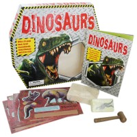 Dinosaurs,With A 24-Page Book,Excavation Kit,Slimy Dinasaur And Press-Outs