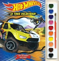 LIBRO DE POSTERS PARA PINTAR: HOT WHEELS