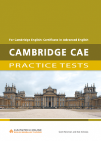 CAMBRIDGE CAE PRACTICE TEST SB