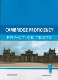 CAMBRIDGE PROFIENCY PRACTICE TEST 1 TCH BOOK