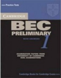 Practice Tests Bec Preliminary 1 Sb W/Key