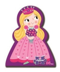 PRINCESS STORY BOOK AND 36 PIECES